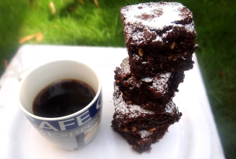 Chocolate, Coffee & Cashewnut Brownies