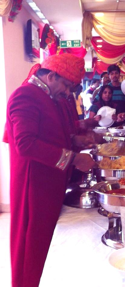Royal service at an event we catered to